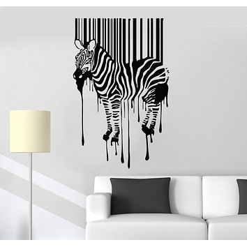 Vinyl Wall Decal Zebra Animal Modern Room Decor Art Stickers Mural Unique Gift (067ig)