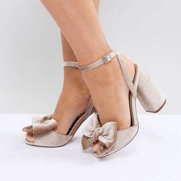 ASOS HAMPTON Wide Fit Heeled Sandals at asos.com