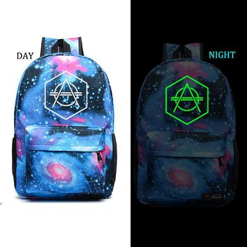 Don Diablo noctilucous backpack student school bag Daily backpack men women Rucksack
