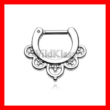 16g Septum Clicker 14g Imperial Filigree Septum Ring Earring Cartilage Piercing Tragus Ring Helix Conch Nose Belly Nipple