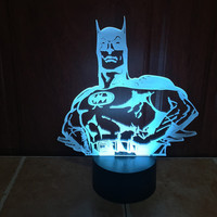 Batman Bust 3D LED Illusion Lamp