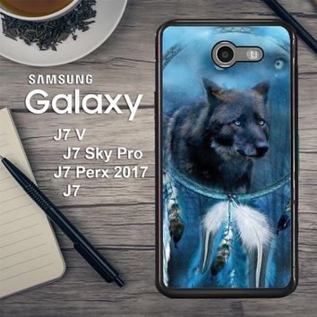 Wolf Dream Catcher F0247 Samsung Galaxy J7 V , J7 Sky Pro, J7 Perx 2017 SM J727 Case