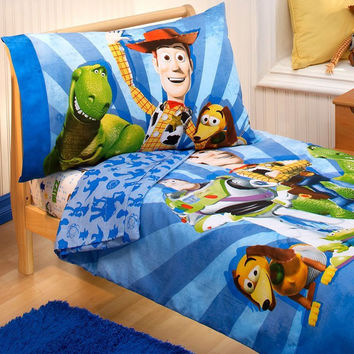 Toy Story Toddler Bedding Set Buzz Woody Comforter Sheets