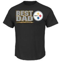 Pittsburgh Steelers Best Dad Black T-Shirt - Official Online Store