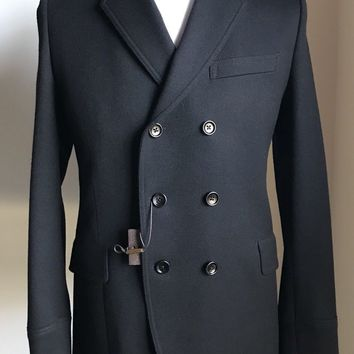 New $2380 Gucci Mens Coat Jacket Japanese Stretch Black 38 US ( 48 Euro ) Italy