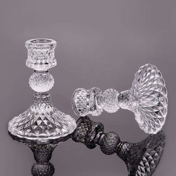 Wedding Candelabra Glass Candle Holder Wedding Decoration