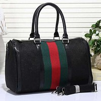 Gucci Women Leather Luggage Travel Bags Tote Handbag