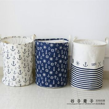 new Zakka version waterproof clothes basket dirty barrel folding clothes toys creative thickened storage laundry basket