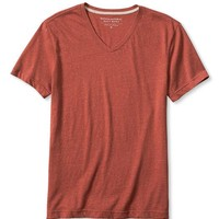 Banana Republic Mens Soft Wash Heathered Vee