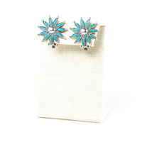 50's__Kent__Turquoise Flower Clips