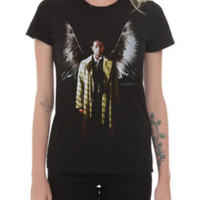 Supernatural Winged Castiel Girls T-Shirt