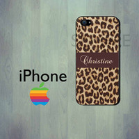 iPhone Case - Leopard Print -  Personalized iPhone Case - iPhone 4 Case or iPhone 5 Case