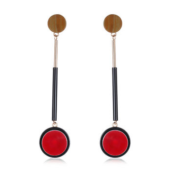 Korean Accessory Stylish Red Handcrafts Earrings [10825997958]