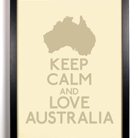 Keep Calm and Love Australia (Map) 8 x 10 Print Buy 2 Get 1 FREE Keep Calm Art Keep Calm Poster Keep Calm Print
