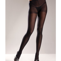 Opaque Nylon Pantyhose Black Qn