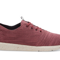 Pomegranate Slubby Linen Men's Del Rey Sneakers