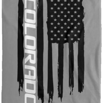 Chevy Colorado American Flag Velveteen Micro Fleece Blanket - 60x80