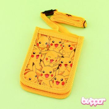 Pikachu Card Holder With Neck Strap