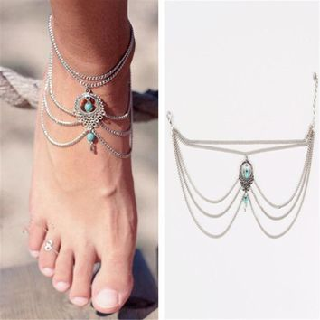 Summer Ankle turquoise  Bracelet  for Women