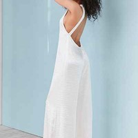 Silence + Noise Adella Wide-Leg Satin Jumpsuit - Urban Outfitters