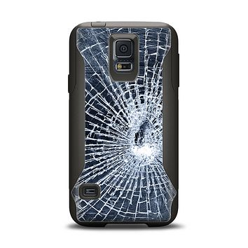 The Shattered Glass Samsung Galaxy S5 Otterbox Commuter Case Skin Set