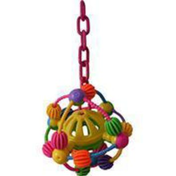 A&e Cage Company - Happy Beaks Space Ball On A Chain Bird Toy