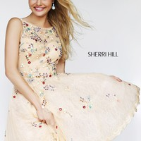 Sherri Hill 4305 Short Lace Prom Dress