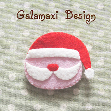 Handmade Felt Santa Claus Earphone Cord Organizer Felt Cable Keeper Christmas Earphone Holder Santa Claus Earphone Wire Keeper Cable Catch