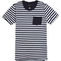 Modern Amusement Stripey T-Shirt - Mens Tee - Blue