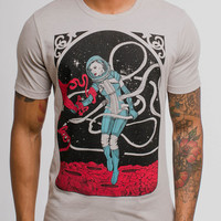 Contact - Multicolor on Heather Silver Mens T Shirt