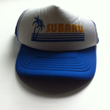 Vintage Subaru Snapback Mesh Trucker Hat from threadandroses on fd95bfd4d07