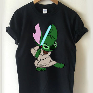 Star Wars Yoda Stitch T-shirt Men, Women Youth and Toddler