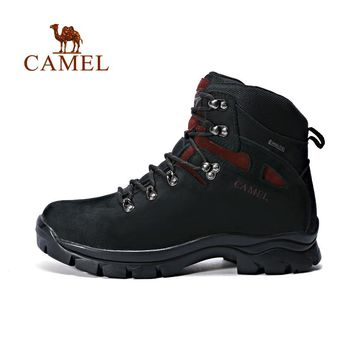 Camel Outdoor Professional Men's Hiking Shoes Genuine Leather Waterproof High-help Mountaineering Boots  A632026815