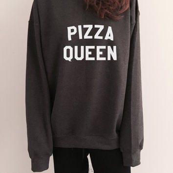Pizza Queen sweatshirt crewneck for womens girls jumper funny saying fashion