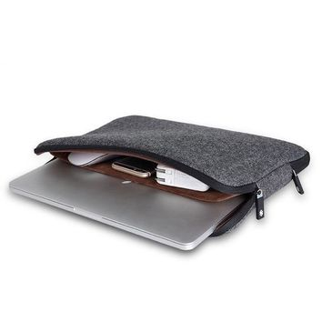 Laptop Sleeve for MacBook Pro / Air Soft Felt Shockproof Notebook Case With Inner Pockets