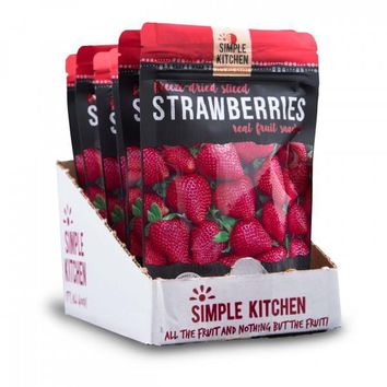 Simple Kitchen Freeze-Dried Strawberries - 6 Pack
