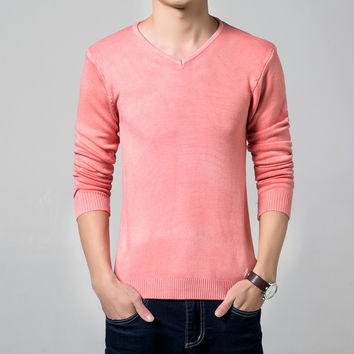 Mens Casual Fitting V-Neck Sweater