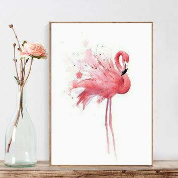 1 Piece Flamingo Animal Wall Art Canvas Painting Nordic Decoration Wall Decor Print Posters Unframed