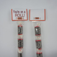 TOOTSIE ROLL TOPPER,you're on a roll,candy topper,tootsie topper,bags included