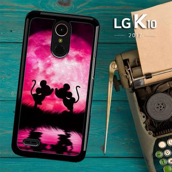 Mickey Minnie Mouse Silhouette W4418 LG K10 2017 / LG K20 Plus / LG Harmony Case