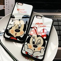 CLESPRUCE Cartoon Lovers Mickey Mouse Minnie iPhone