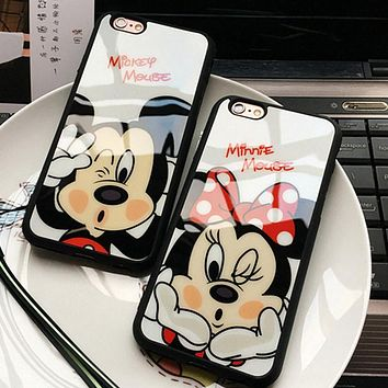 Mickey Mouse Minnie cover soft TPU silicon case For iPhone