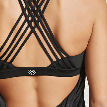 Active Twofer Mesh-Striped Top