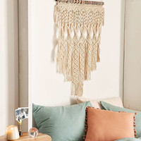 Penny Woven Macrame Wall Hanging | Urban Outfitters