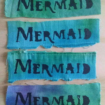 Tie-dye Mermaid Punk Patch