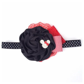 2014 Disney Collection - RED MINNIE MOUSE Can Can Headband- Disneyland Disney, mickey mouse, Princess Spring, Summer, Newborn, Photo prop