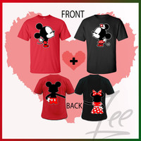 Mickey and Minnie kissing Inspired Soul Mate,Mix and match colors & sizes of any t-shirt,Couple T-shirt Disney- Matching T-shirts,Size S-2X