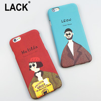 Fashion Cartoon The Professional Killer Leon and Mathilda Cover For iphone 6 Case For Apple iphone 6S Plus 5 5S Phone Cases Capa