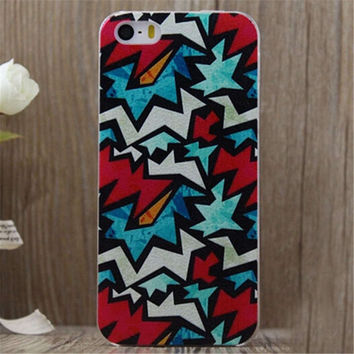 Graffiti Print iPhone 5/5S/6/6S/6 Plus/6S Plus Case Gift Very Light Case-26