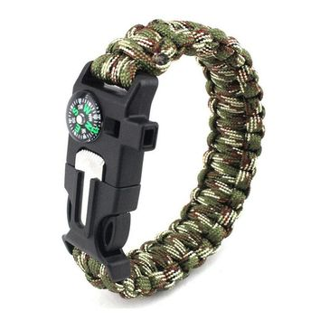 Braided Bracelet Men Paracord Survival Bracelet Outdoor Camping Rescue Emergency Rope Bracelets For Women